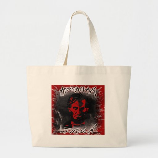 Lincoln Blood-Red Horror Star Tote Bag