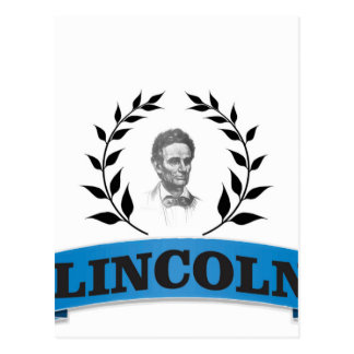 lincoln blue postcard