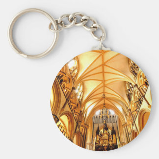 Lincoln cathedral basic round button keychain