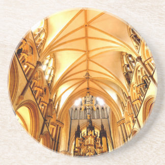 Lincoln cathedral beverage coaster