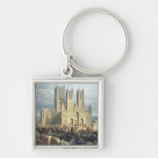 Lincoln Cathedral from the North West, c.1850 Keychain