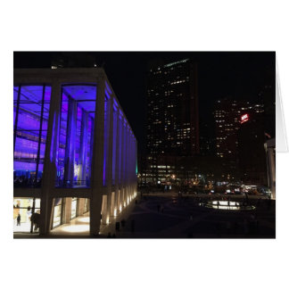 Lincoln Center NYC New York Night Lights Photo Card