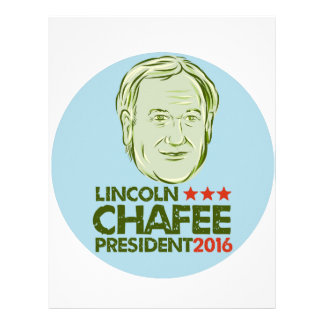 Lincoln Chafee President 2016 Customized Letterhead