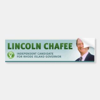 Lincoln Chafee w/ check and profile Bumper Sticker