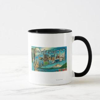 Lincoln City, Oregon - Large Letter Scenes Mug