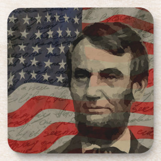 Lincoln day beverage coasters
