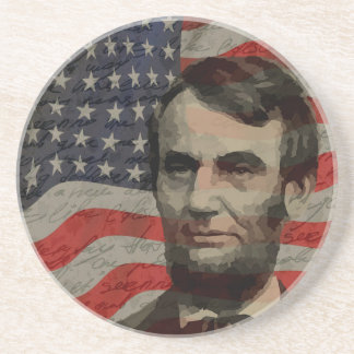 Lincoln day drink coasters