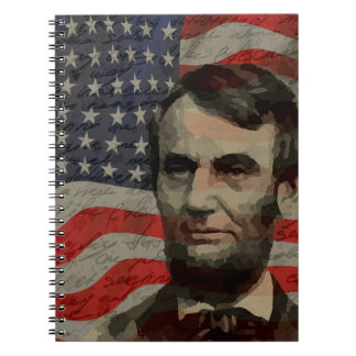 Lincoln day spiral notebook