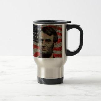 Lincoln day travel mug