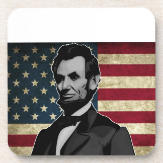 lincoln drink coaster