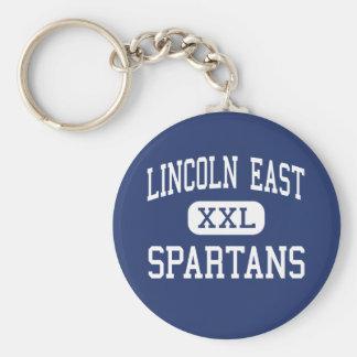 Lincoln East - Spartans - High - Lincoln Nebraska Basic Round Button Keychain