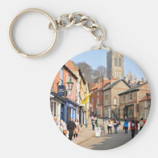Lincoln, England Basic Round Button Keychain