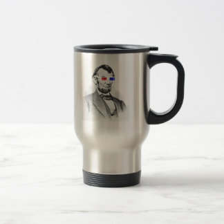 Lincoln in 3D! Travel Mug