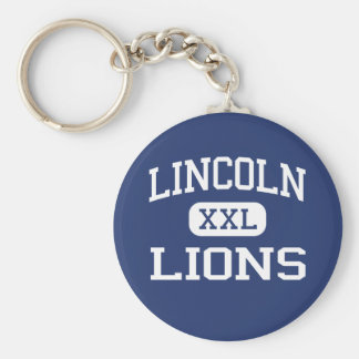 Lincoln - Lions - High - Jersey City New Jersey Basic Round Button Keychain