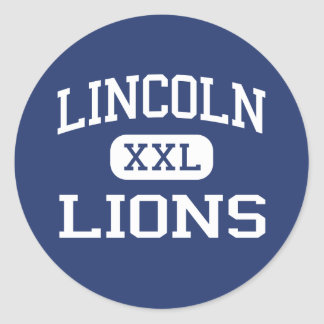 Lincoln - Lions - High - Lincoln Rhode Island Round Sticker