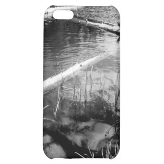 Lincoln Logs Black and White Photo iPhone 4 Case