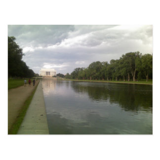 Lincoln Memorial and Reflecting Pool Postcard
