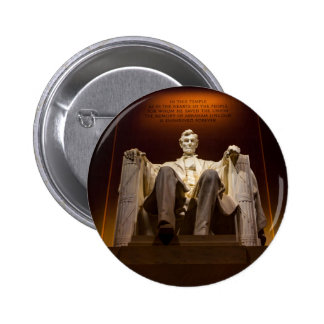 Lincoln Memorial At Night - Washington D.C. 2 Inch Round Button