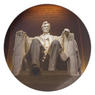 Lincoln Memorial At Night - Washington D.C. Plate