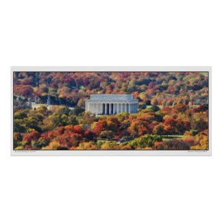 Lincoln Memorial- Autumn- Panoramic Poster