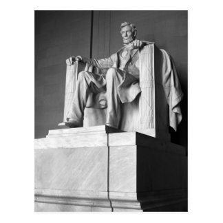 Lincoln Memorial B&W Greeting Postcard