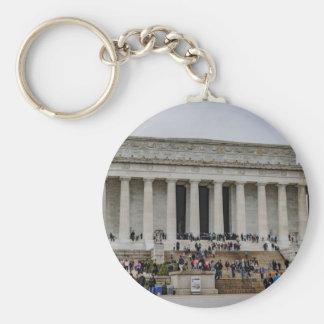 Lincoln Memorial Basic Round Button Keychain