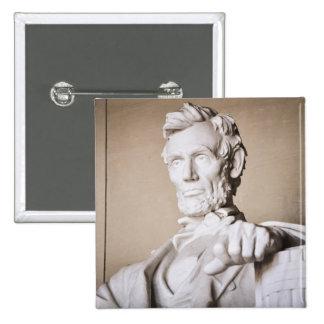 Lincoln Memorial in Washington DC 2 Inch Square Button