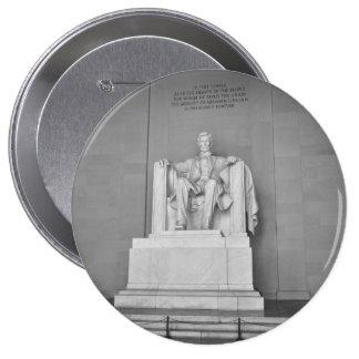 Lincoln Memorial in Washington DC 4 Inch Round Button