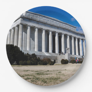 Lincoln Memorial in Washington DC 9 Inch Paper Plate