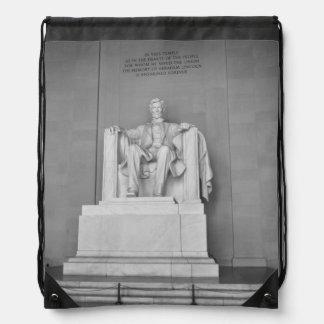 Lincoln Memorial in Washington DC Drawstring Bag