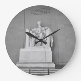 Lincoln Memorial in Washington DC Large Clock