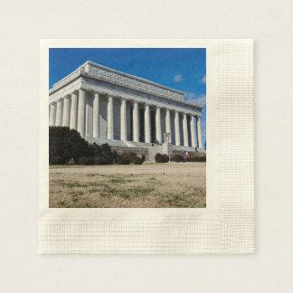 Lincoln Memorial in Washington DC Paper Napkin