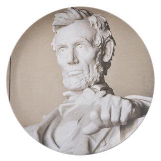 Lincoln Memorial in Washington DC Plate