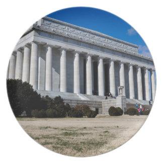 Lincoln Memorial in Washington DC Plates