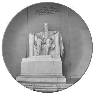 Lincoln Memorial in Washington DC Porcelain Plate