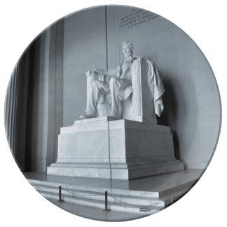 Lincoln Memorial in Washington DC Porcelain Plates