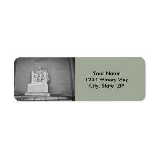 Lincoln Memorial in Washington DC Return Address Label