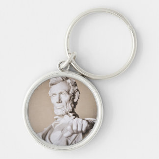 Lincoln Memorial in Washington DC Silver-Colored Round Keychain
