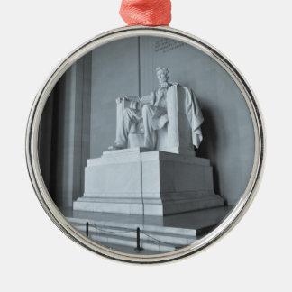 Lincoln Memorial in Washington DC Silver-Colored Round Ornament