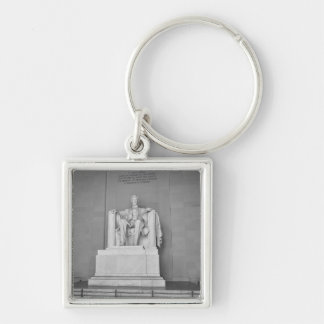 Lincoln Memorial in Washington DC Silver-Colored Square Keychain