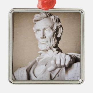 Lincoln Memorial in Washington DC Silver-Colored Square Ornament