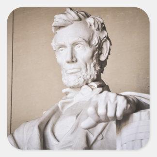 Lincoln Memorial in Washington DC Square Sticker