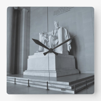 Lincoln Memorial in Washington DC Square Wall Clock