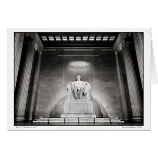 Lincoln Memorial- Interior Card