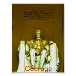 Lincoln Memorial poster .motivational