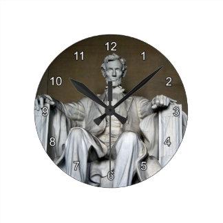LINCOLN MEMORIAL ROUND CLOCK