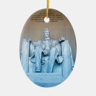 Lincoln Memorial sculpture Washington DC Ceramic Oval Ornament