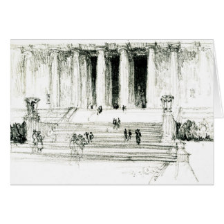 Lincoln Memorial Steps 1922 Note Card