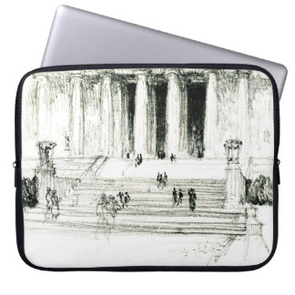 Lincoln Memorial Steps 1922 Laptop Sleeve