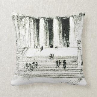 Lincoln Memorial Steps 1922 Throw Pillows